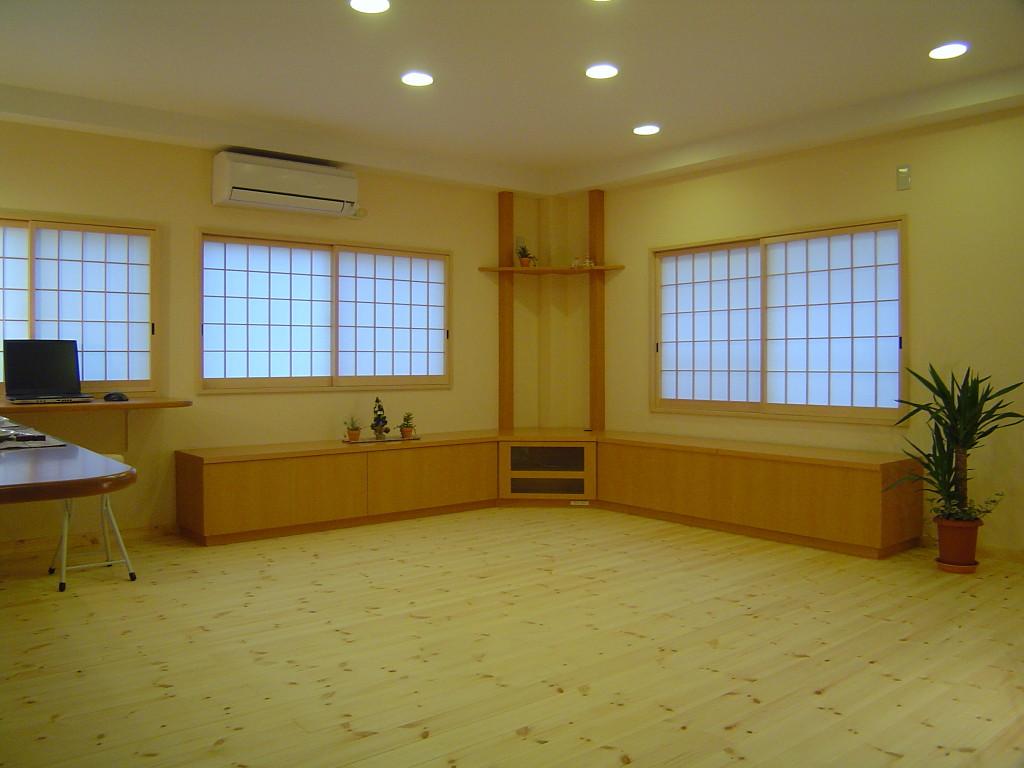 和のテイストの自然素材を使った 京都市中京区のリビングリフォーム実例