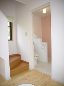 トイレと洗面をひとつの空間に