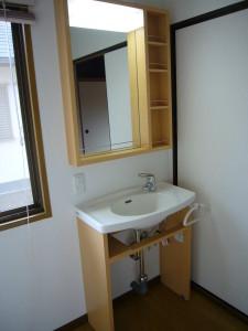 2階に設置した洗面化粧台