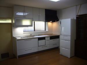 壁付け I型のシステムキッチン