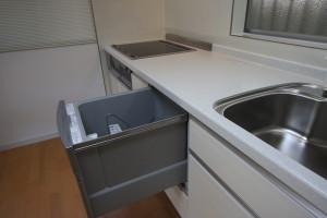 スライド式の食器洗い乾燥機