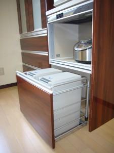 分別式ゴミ箱のスペース