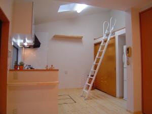 勾配天井でロフト空間が生まれました