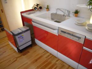 スライド式のゴミ箱