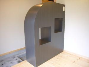 造り付けのパーテーション式家具