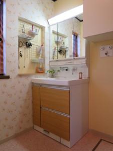 引き出しタイプの洗面化粧台